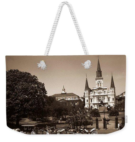 Old New Orleans Photo - Saint Louis Cathedral Weekender Tote Bag