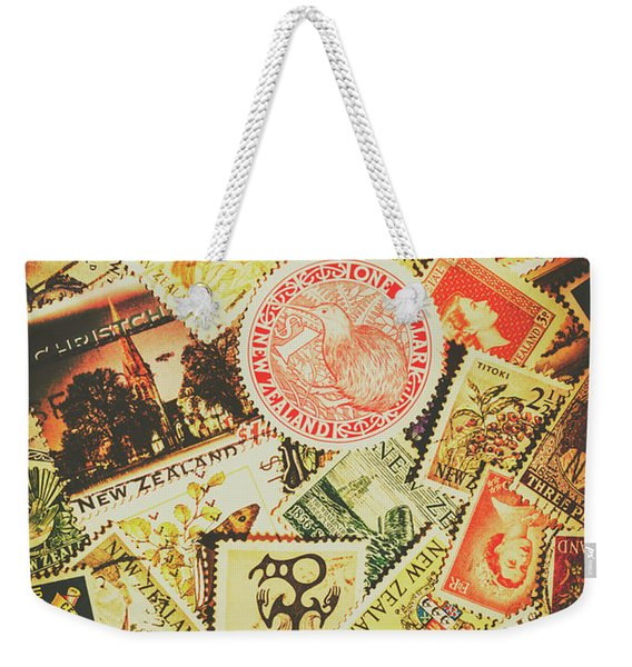 Old New Zealand Stamps Weekender Tote Bag