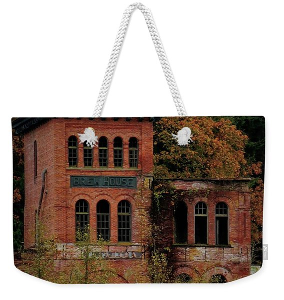 Weekender Tote Bag featuring the photograph Old Olympia Brewery by Patricia Strand
