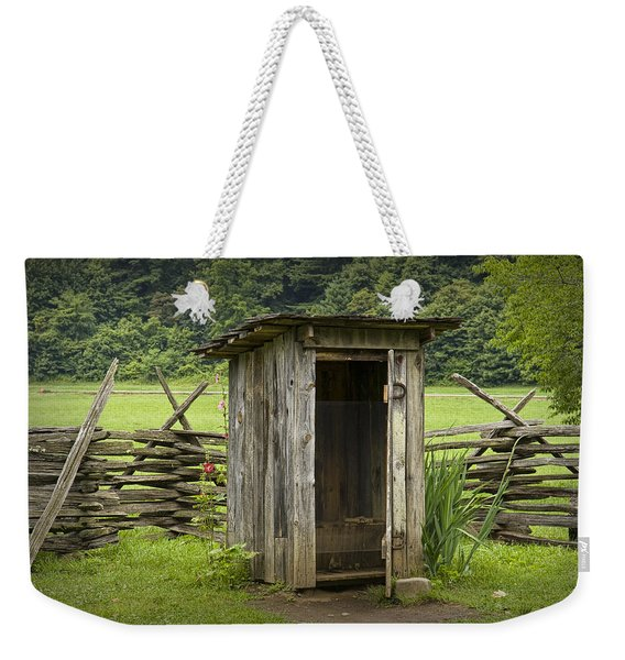 Old Outhouse On A Farm In The Smokey Mountains Weekender Tote Bag