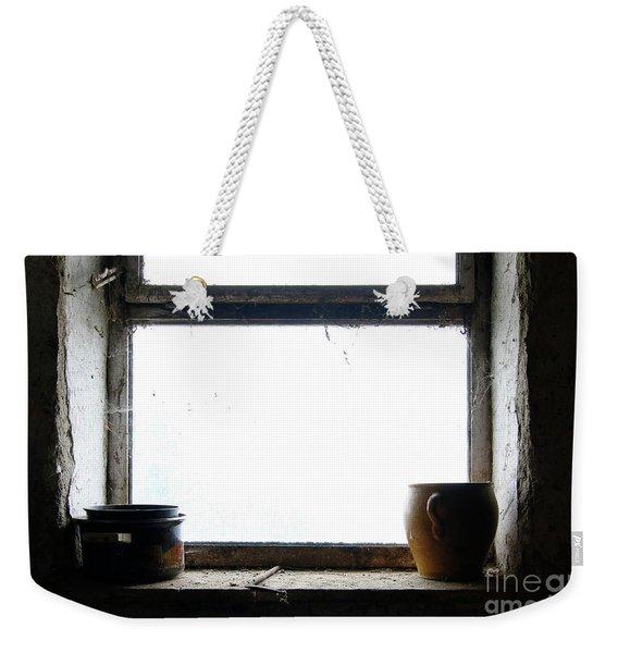 Old Pots And Stoneware Jar On Window Weekender Tote Bag