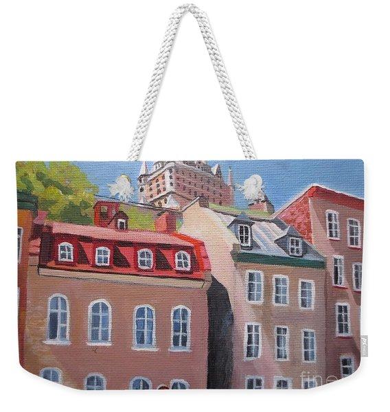 Old Quebec City Weekender Tote Bag