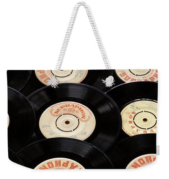 Old Records Mug Weekender Tote Bag