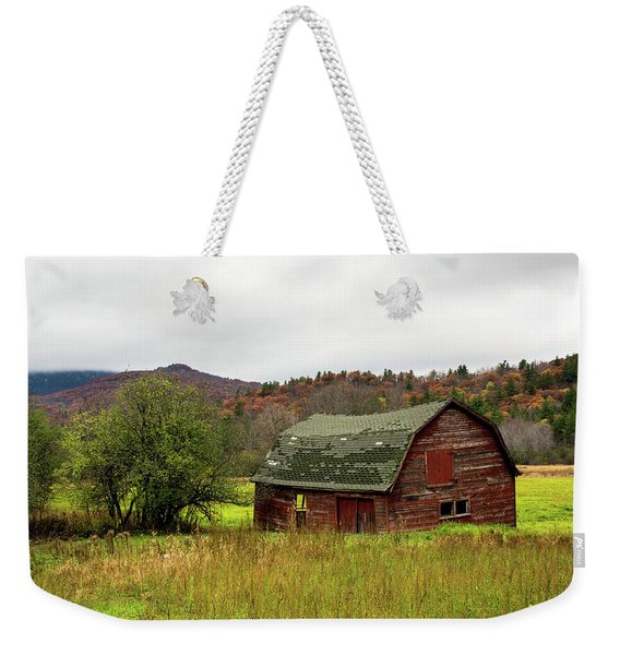 Old Red Adirondack Barn Weekender Tote Bag