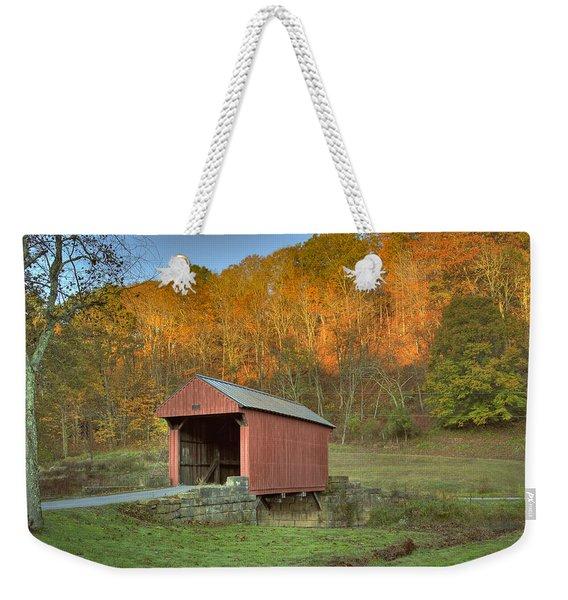 Old Red Or Walkersville Covered Bridge Weekender Tote Bag