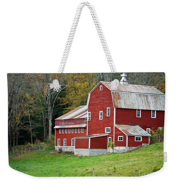 Old Red Vermont Barn Weekender Tote Bag