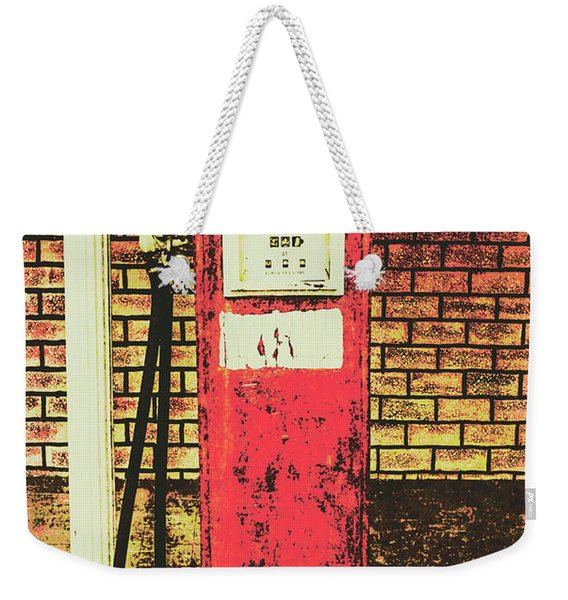 Old Roadhouse Gas Station Weekender Tote Bag