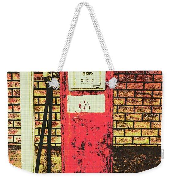 Old Roadhouse Gas Station Weekender Tote Bag