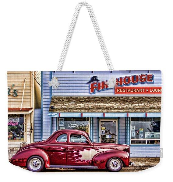 Old Roadster - Red Weekender Tote Bag