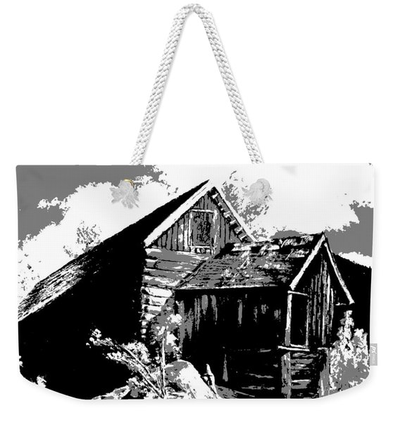 Weekender Tote Bag featuring the digital art Old Rocky Mill by Deleas Kilgore