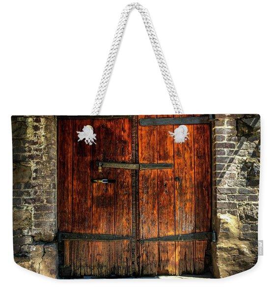 Old Savannah Warehouse Door Weekender Tote Bag