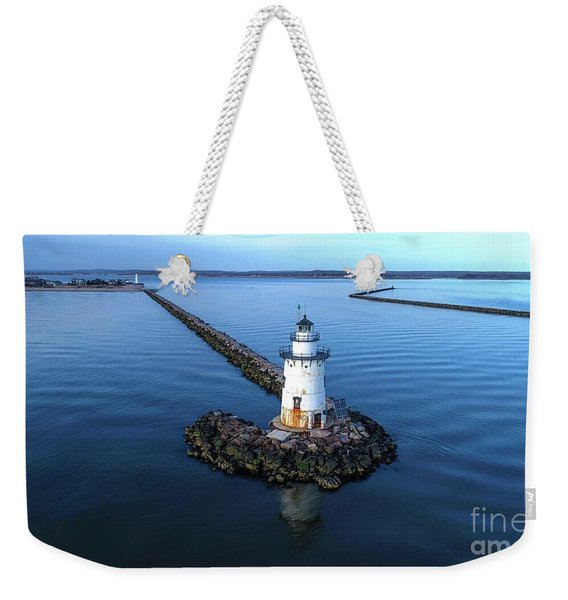 Old Saybrook Outer Lighthouse Weekender Tote Bag
