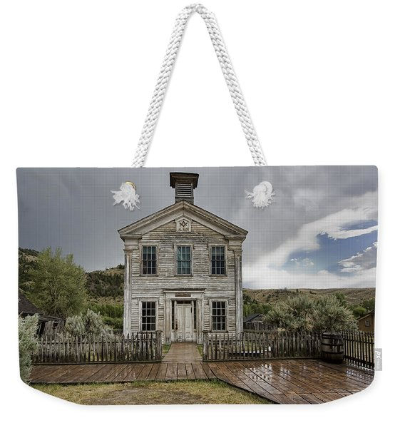 Old School House After Storm - Bannack Montana Weekender Tote Bag