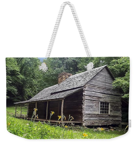 Old Settlers Cabin Smoky Mountains National Park Weekender Tote Bag