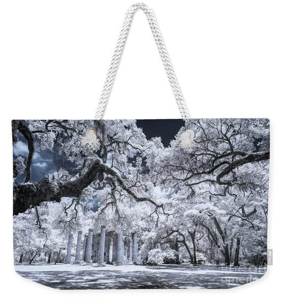 Old Sheldon Church In Infrared Weekender Tote Bag