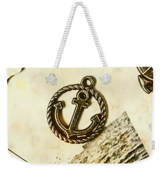Old Shipping Emblem Weekender Tote Bag