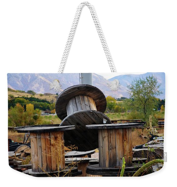 Old Spool Weekender Tote Bag