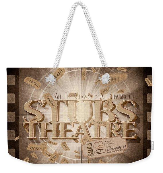 Old Stubs Theatre Advert Weekender Tote Bag