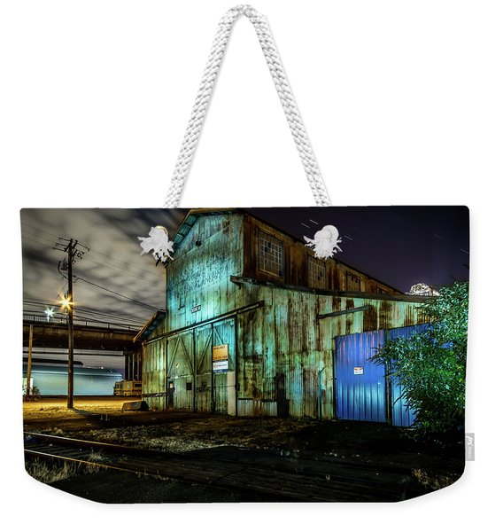 Old Tacoma Industrial Building Light Painted Weekender Tote Bag