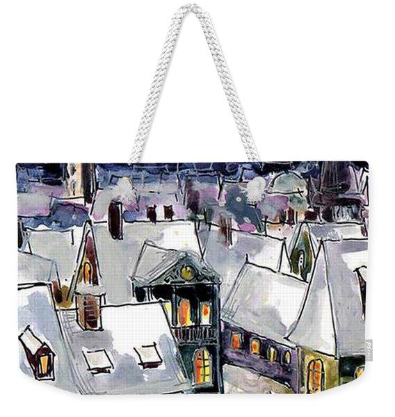 Old Time Winter Weekender Tote Bag