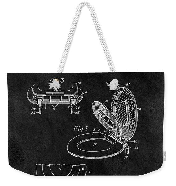 Old Toilet Seat Patent Weekender Tote Bag