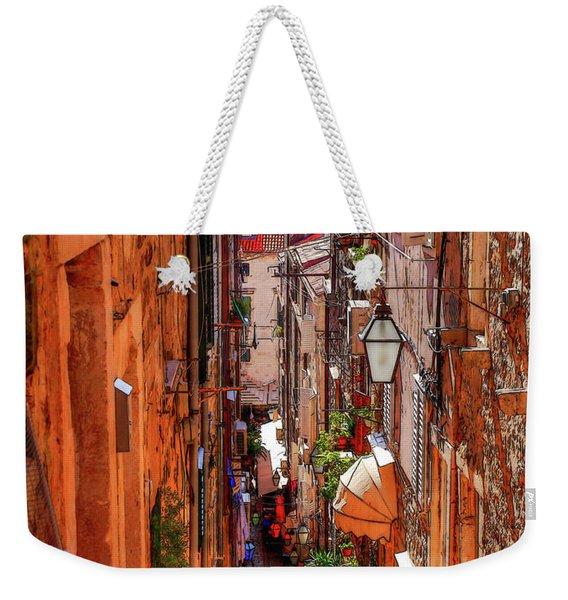 Old Town Dubrovniks Inner Passages Weekender Tote Bag
