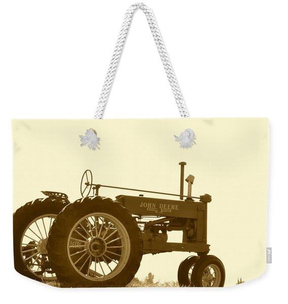Old Tractor IIi In Sepia Weekender Tote Bag