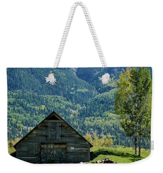 Weekender Tote Bag featuring the photograph Old Tractor by Jason Coward