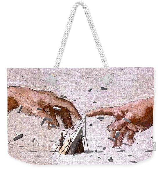 Traditional Art Vs. Digital Art Weekender Tote Bag