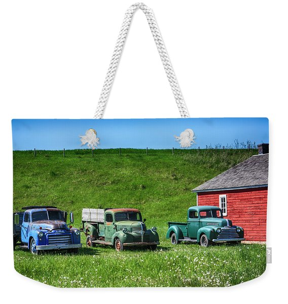 Old Trucks Weekender Tote Bag
