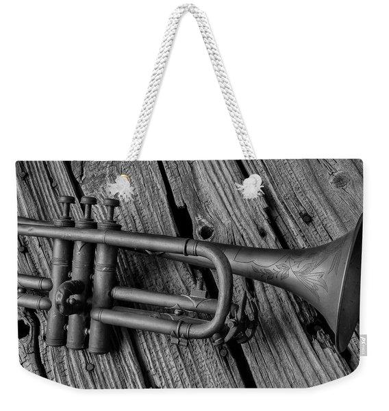 Old Trumpet Close Up Weekender Tote Bag