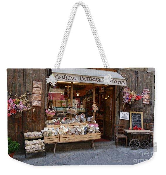 Old Tuscan Deli Weekender Tote Bag