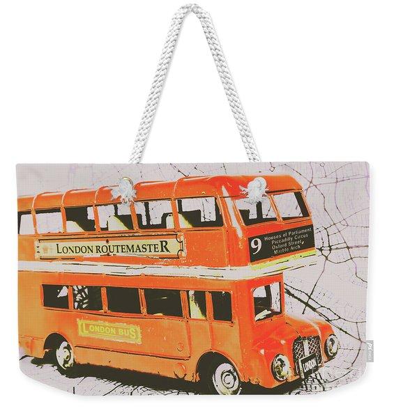 Old United Kingdom Travel Scene Weekender Tote Bag