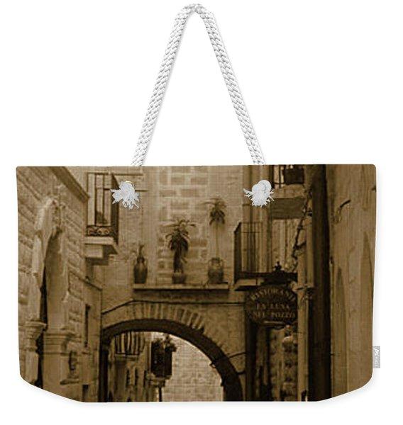 Old Village Street Weekender Tote Bag