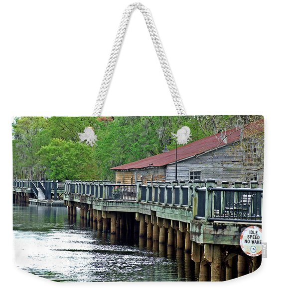 Old Warehouse On The River Conway South Carolina Weekender Tote Bag