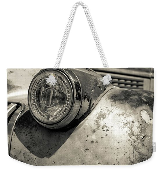Old Weathered Pickup Truck Outside Of Kodachrome Basin State Park Weekender Tote Bag