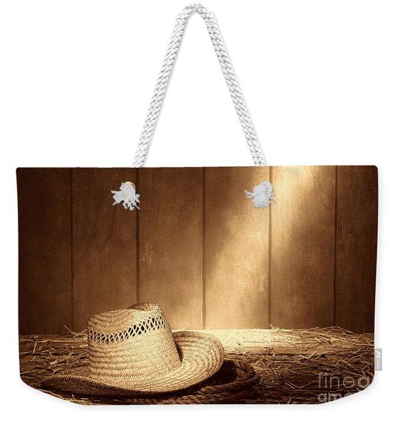 Old West Farmer Hat Weekender Tote Bag