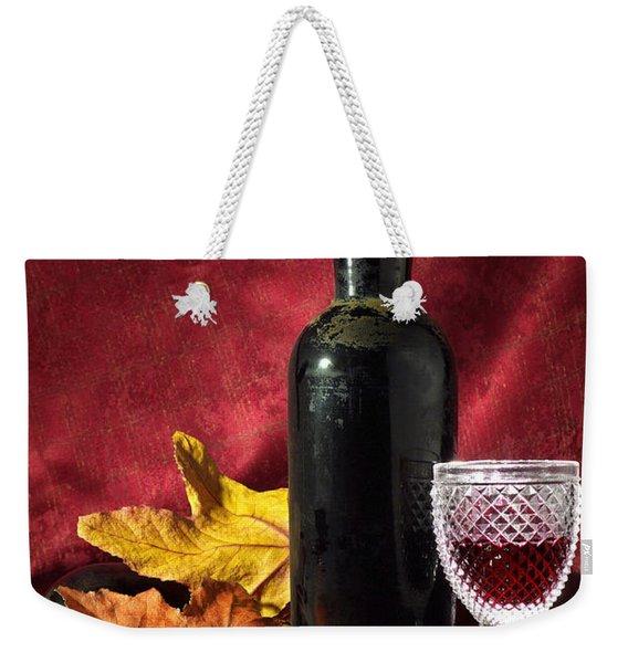 Old Wine Bottle Weekender Tote Bag