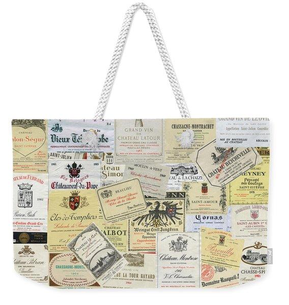 Old Wine Labels Weekender Tote Bag
