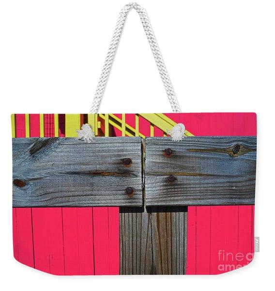 Old Wood Pinked Out Weekender Tote Bag