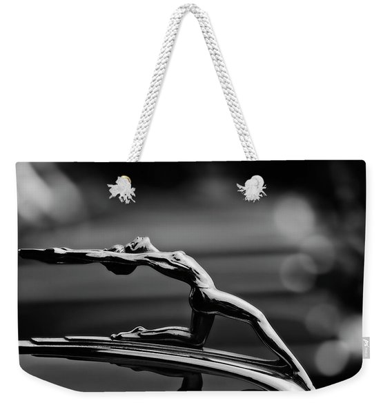 Oldsmobile 1933 Hood Ornament Weekender Tote Bag