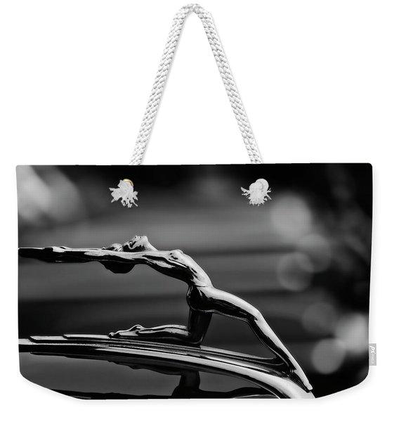 Oldsmobile 1933 Hood Ornament Weekender Tote Bag