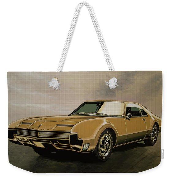 Oldsmobile Toronado 1965 Painting Weekender Tote Bag