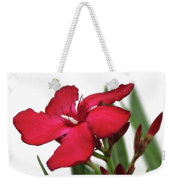 Oleander Blood-red Velvet 2 Weekender Tote Bag