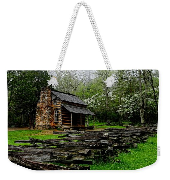 Oliver's Cabin Among The Dogwood Of The Great Smoky Mountains National Park Weekender Tote Bag