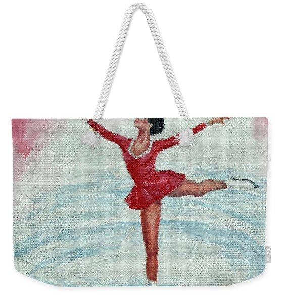 Olympic Figure Skater Weekender Tote Bag