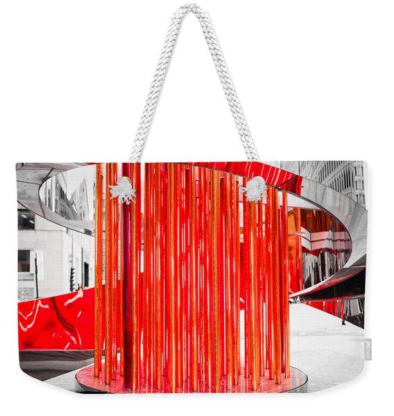 Olympic Neon Flame Weekender Tote Bag