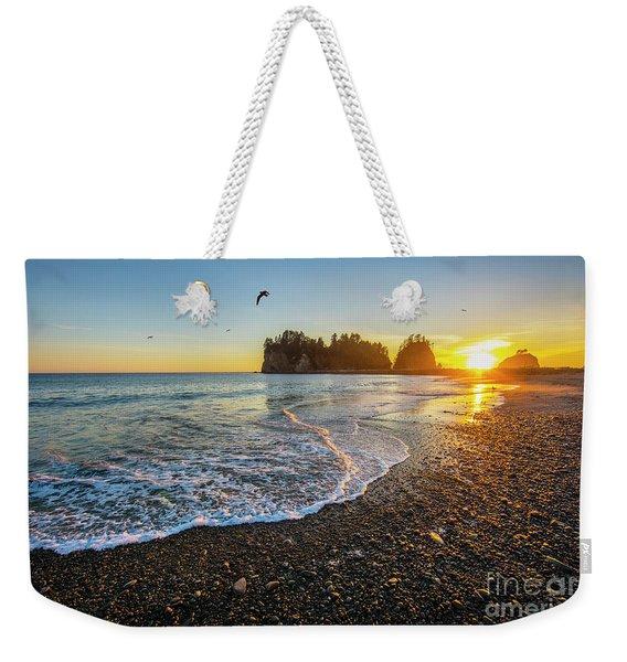 Olympic Peninsula Sunset Weekender Tote Bag