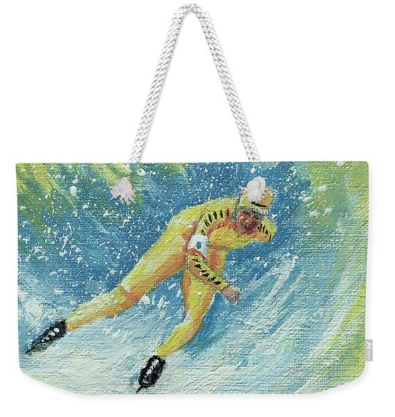 Olympic Speed Skater Weekender Tote Bag