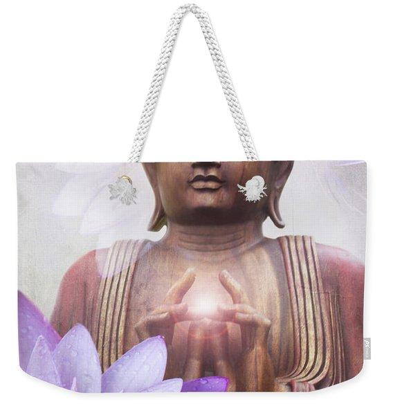 Om Mani Padme Hum - Buddha Lotus Weekender Tote Bag